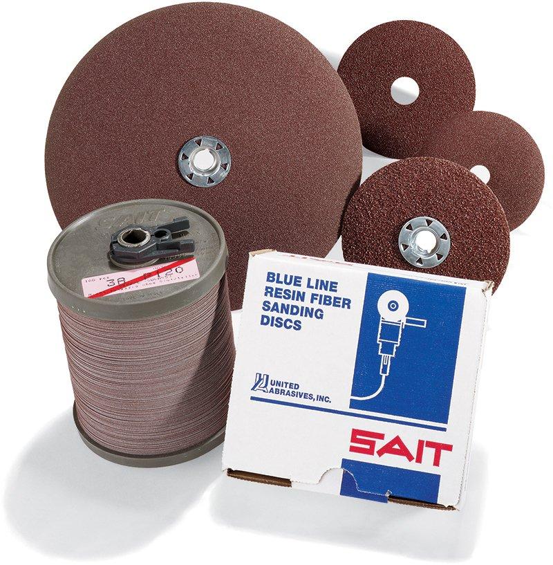 7S 4-1//2 X 7//8 United Abrasives-SAIT 57228 Ceramic Fiber Disc 80 Grit 20 Per Box